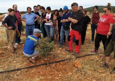 Visita de futuros emprendedor@s. Plantación de trufas, Briongos de Cervera. (F. Oxígeno)