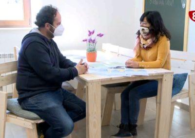 La8 Televisión Burgos visitando Demanda Coworking Rural